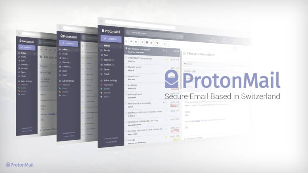 ProtonMail has a very clean, easy to use web mail interface - and smartphone apps